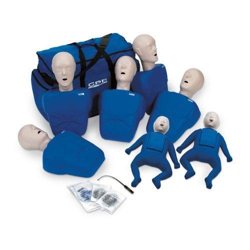 TPAK700/TPAK700T CPR Prompt 5 Adult/Child Manikins & 2 Infant Manikins (Blue)