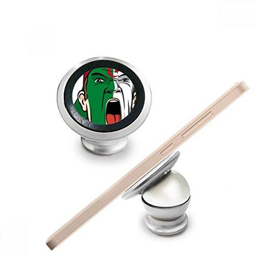 DIYthinker Algerije Nationale Vlag Facial Schilderen Make-up Masker Schreeuwende Cap Magnetische Telefoon Mount Auto Dashboard Houder Voor Mobiele Telefoon 360 Graden Rotatie Gift