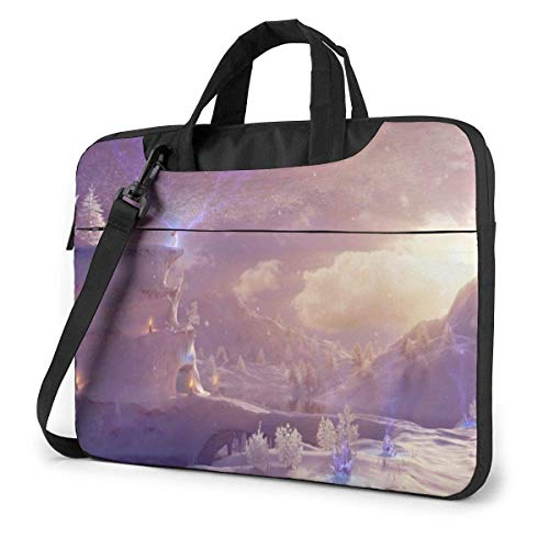 Laptop Shoulder Bag Carrying Laptop Case, Snow Mountain Computer Sleeve Cover, Business Briefcase Protective Bag