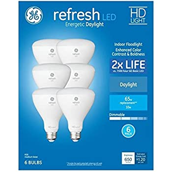 Daylight 65-watt Replacement GE Lighting 68567 LED Refresh HD 13-watt 1-Pack 900-Lumen R40 Light Bulb with Medium Base