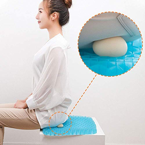 Gel Chair Seat Cushion,Office Chair Cushion Pad for Lower Back Pain, Sciatica,Tailbone,Hip and Back Pressure Relief,Orthopedic Seat Pads for Wheelchair, Car Seats, Office Chairs 36.5 * 33 * 2cm