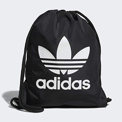 adidas Originals Unisex Trefoil Sackpack, Black/White, ONE SIZE