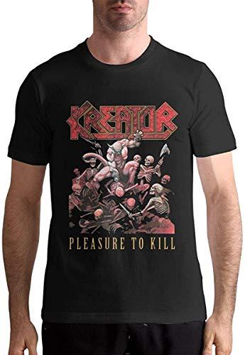 KAYLRR Maglietta da Uomo Music Band Kreator Piacere di Uccidere Copertina dell album T-Shirt a Maniche Corte con Design alla Moda