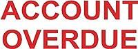 カラーP グリーンライン ワードスタンプ ACCOUNT OVERDUE C144837ACC