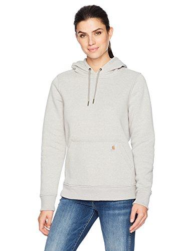 Carhartt Women's Clarksburg Pullover Sweatshirt (Regular and Plus Sizes), Asphalt Heather, X-Large