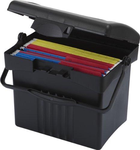 Storex Economy Boîte à fichiers portable N/A Noir