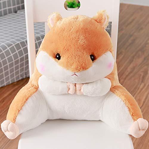 Hámster lindo en forma de felpa Lumbar almohadas silla respaldo cojín cintura resto cojín para oficina sofá cama