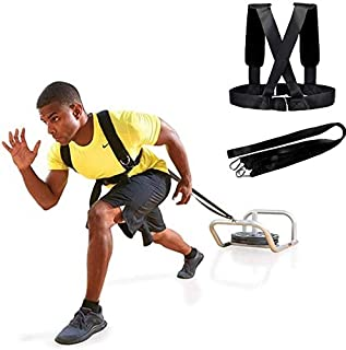 YAV639GEYO Sled Harness Weight-Bearing Shoulder Straps are Used for Physical Training Power Sprint and Burst Exercises