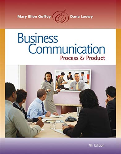 Business Communication: Process & Product