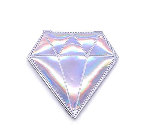 Petit miroir de sac à main en cuir PU brillant - Design créatif - Cadeau pour femme et fille - Miroir grossissant