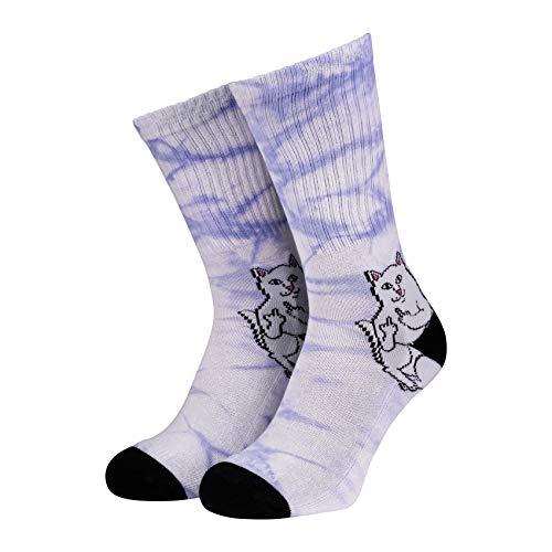 Rip N Dip Lord Nermal purple tie dye Socken