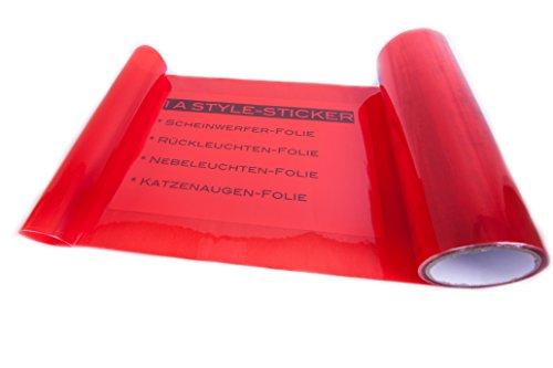 1A Style Sticker Rückleuchten Folie Rot Folierung Hecklichter Auto-Scheinwerfer Folierung Wasser und UV-Beständig