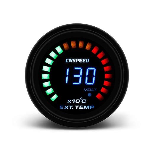 Légère Lentille de fumée EGT de mesure de la température des gaz d'échappement de voiture de 52MM avec le mètre de voiture de sonde durable