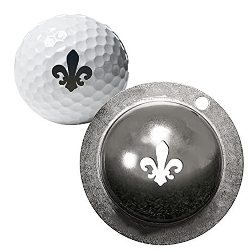 Phrat Golfbälle Markieren mit Gravur,Personalsierte Golfball Markierer mit Buchstaben,Golfball Markierer Schablone Personalsierte