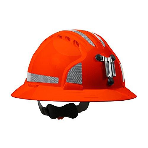 JSP 280-EV6161MCR2-OR Evolution Deluxe 6161 Full Brim Mining Hard Hat with CR2 Reflective Kit