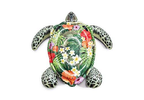 Intex Realistic Print Sea Turtle Inflatable, 75u0022 X 67u0022, for Ages 3+