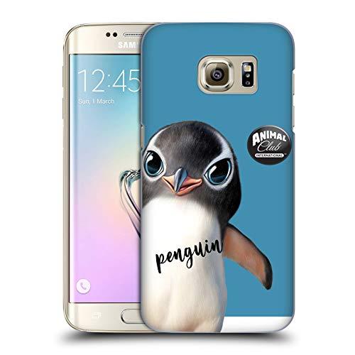 Head Case Designs Ufficiale Animal Club International Pinguino Facce Cover Dura per Parte Posteriore Compatibile con Samsung Galaxy S7 Edge