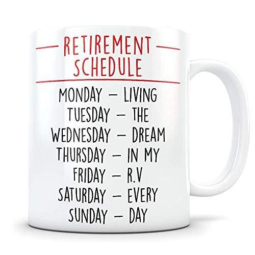 N\A Regalo de jubilación de RV para Hombres y Mujeres, Regalo de RV Retirado, Taza de jubilación de RV, Regalo de jubilación de Camping, Regalo Divertido de mordaza de jubilación de RV