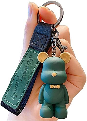 Weixia Llavero moderno nórdico masculino y femenino personalizado, de piel y metal, para mochila, cartera, correas, accesorios, llavero de coche s B