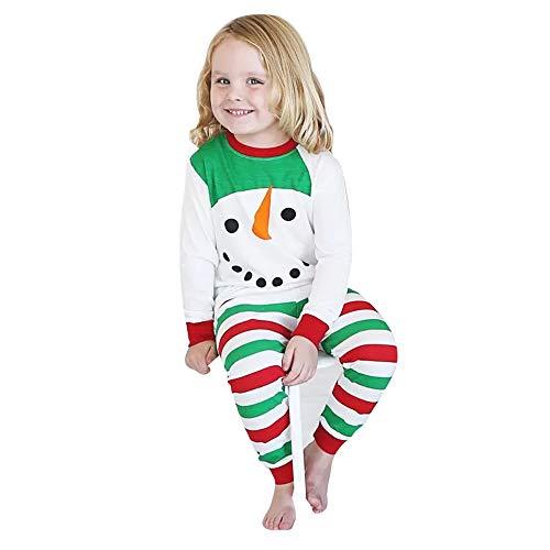 Hui.Hui Ensemble à Manches Longues Rayures Tops Chemise Vêtements+ Imprimé Pantalon Tenues de Costume Hiver Chic Noël Cadeau pour Enfants Anniversaire Fête Vêtements