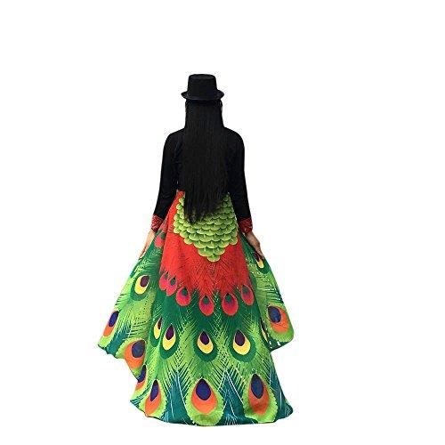 Xmiral Mujeres Chal de Alas de Pavo Real Duendecillo Capa de Muchacha Accesorio para Disfraz Fiesta Reyes Cosplay