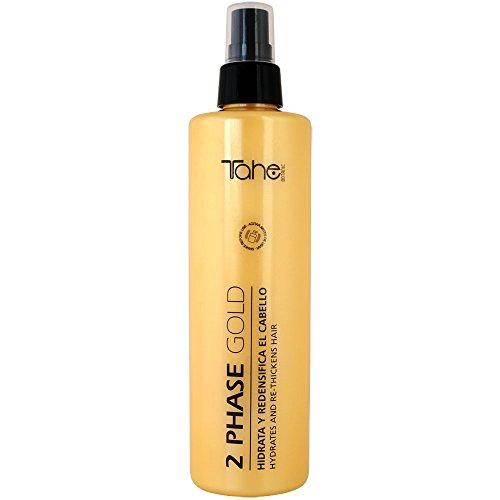 Tahe Gold Concentrado de Vitamina E Bio Fluid 2-Phase Gold Hidratante y Redensificador de Cabello, 300 ml