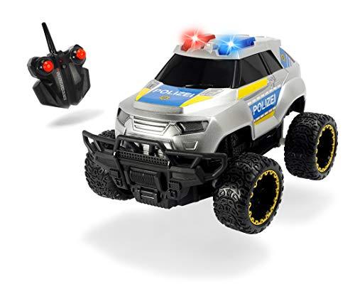 Dickie Toys RC Police Offroader, RTR, Polizeiauto, RC Auto, ferngesteuertes Fahrzeug, mit Funkfernsteuerung, bis 8 km/h, für Kinder ab 6 Jahren, 20 cm