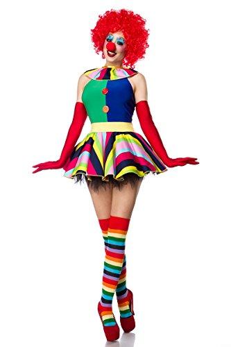 AT 5-tlg. Damen Clown Kostüm Harlekin Kostüm
