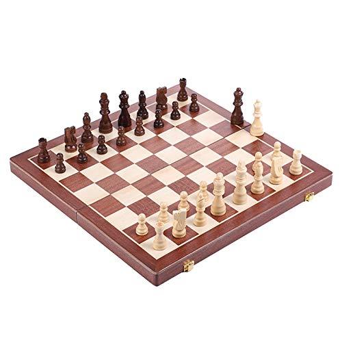 MRlegendary Ajedrez de Madera, Tablero de ajedrez Plegable, Juegos Tradicionales Familiares portátiles, Regalos para Adultos y niños, Juegos de Mesa para Adultos (50 x 50 cm)