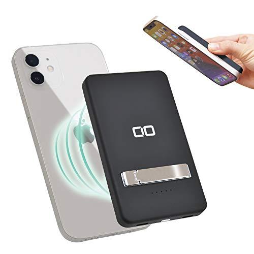CIO magsafe対応 モバイルバッテリー 5000mAh iPhone12 Pro Max mini PD ワイヤレス充電 15W CIO-MB5000-MA...