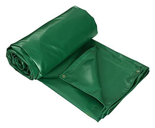 Toldo toldo Protección de lona impermeabilizada y lona de recubrimiento impermeable lona impermeable de plástico de tela de aislamiento Sandbox lona resistente ( Color : Vert , Size : 30x30ft/10x10m )