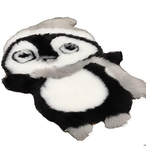 YUESFZ Alfombras moquetas Alfombra De Dormitorio De Pingüino De Felpa Creativa, Cojín De Silla De Dibujos Animados Suave para Sala De Estar, Manta De Cabecera con Forma De Animal De Moda
