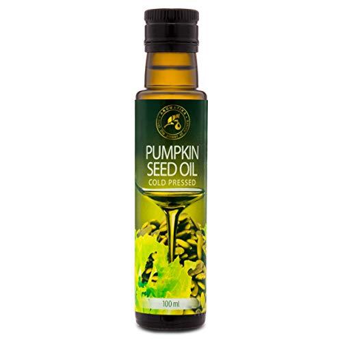 Aceite de Semilla de Calabaza 100 ml - Aceite de Cocina 100% Natural - en una Botella de Protección Ligera - Austria - Aceite para la Cocina - Aderezo para Ensaladas - Comida
