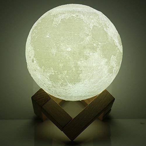 Lampe 3D lune tactile (avec un joli emballage) lampe de nuit USB, lampe art deco lampe veilleuse, parfait cadeau pour anniversaire Noël fête(15CM)