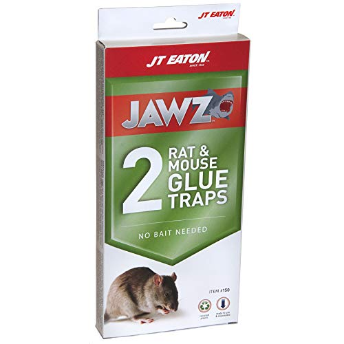 JT Eaton 150 Jawz Rat Glue Trap (Pack of 2) Rodent, Black