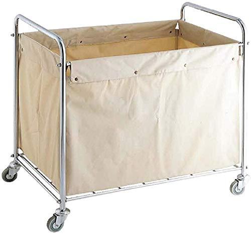 Wasserij sorteren car Beige wasmand Sorter Rolling Cart, Commercial Cleaning Service Utility Trolley met wielen & verwisselbare Bags Dienst rolwagen