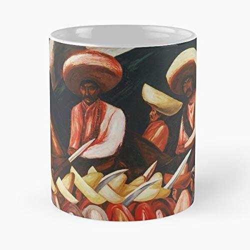 Generic Orozco Army Zapatistas Murals of National Realism Modern Liberation Jose Mexican Art Muralism Social Zapatista Expressionism Clemente Best 11 oz Kaffeebecher - Nespresso Tassen Kaffee Motiv