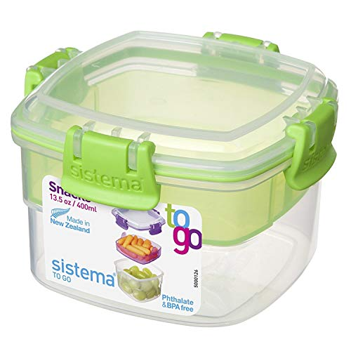 Sistema Contenedor para Alimentos Snacks To Go, 400 ml, 1 unidad [modelo surtido]