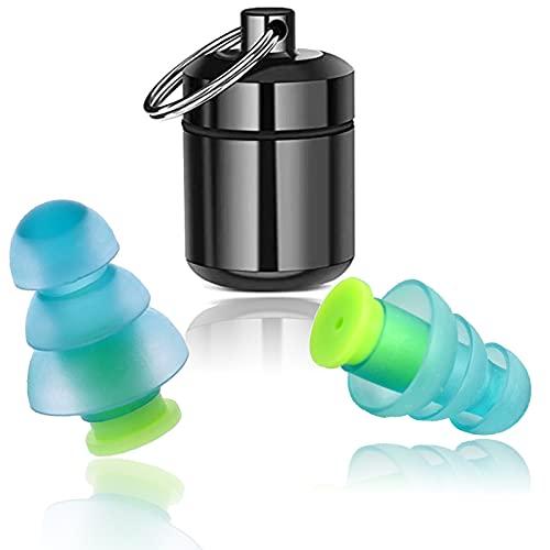 Ohrstöpsel zum Schlafen, SNR 32dB Silikon Gehörschutz Ohrstöpsel für Gehörschutz, Gehörschutzstöpsel, aus wiederverwendbar Silikon, zum Schlafen, Gegen Schnarchen, Schwimmen (NEWGrün)