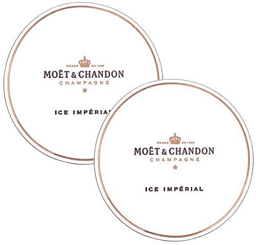 Pub Paraphernalia Moet & Chandon Ice Imperial Verre en papier pour coupes de champagne Paper Dessous de Coaster for Champagne Glasses Flutes
