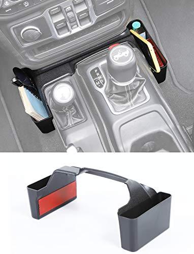 Savadicar GT-2 Shifter Storage Box, Gear Shift Console Side Tray Organizer for 2018-2021 Jeep...