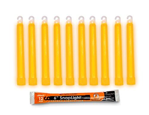 Cyalume-9-08005 SnapLight Orange Glow Sticks – 6 Inch Industrial Grade, Ultra Bright Light Sticks with 12 Hour Duration (Pack of 10)