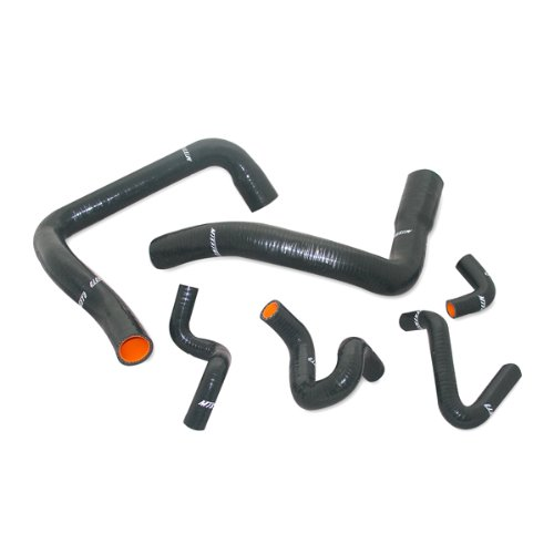 Mishimoto MMHOSE-MUS-86BK Silicone Radiator Hose Kit Compatible With Ford Mustang GT Cobra 1986-1993 Black