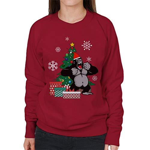 Cloud City 7 King Kong rond de kerstboom vrouwen Sweatshirt