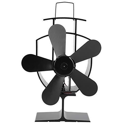 Kaminventilator, Stummschaltung Holzherd Fan Heizung Effizienz Aluminium Holz Burning Kamin zur Wärmeverteilung