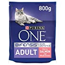 Purina ONE Adult Dry Cat Food Salmon & Wholegrain 800g (Case of 4)