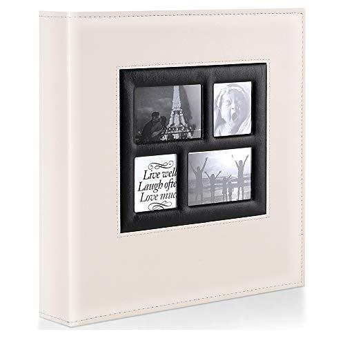 Ywlake Album de Fotos 10x15 1000, Grande Tradicional Tipico Original Cubierta de Cuero Album Fotos Horizontal y Vertical para la Boda de la Familia (Beige, 1000 Fotos)