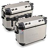 GIVI (ジビ) サイドケース 37L 左右セット シルバー アルミ製 モノキーケース TREKKER OUTBACKシリーズ OBKN37APACK2 98492