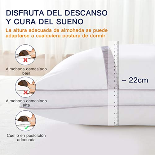 BedStory Pack de 2 almohadas antiácaros - 4
