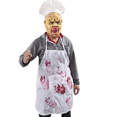 PRETYZOOM Horror Murder Chef - Mscara de ltex para disfraz de Halloween